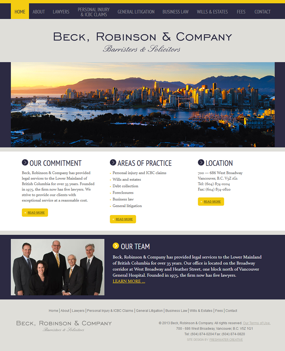 Beck Robinson & Company Homepage