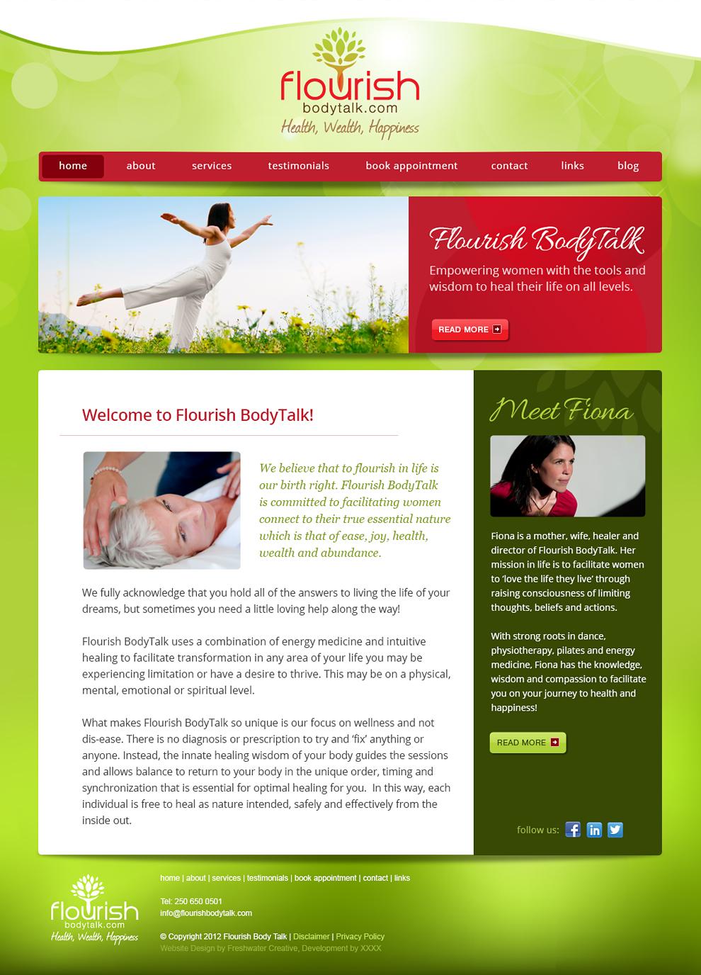 Flourish BodyTalk Homepage