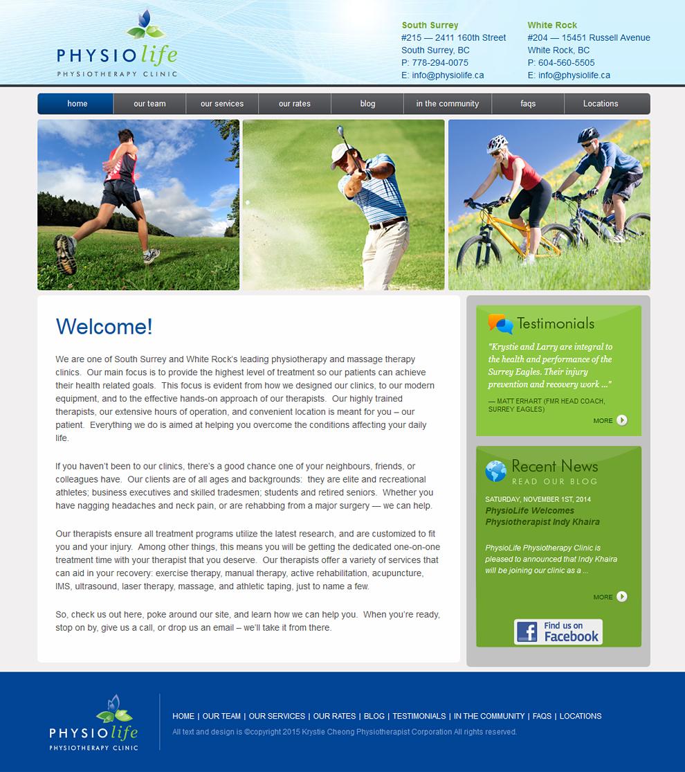 Physiolife-homepage