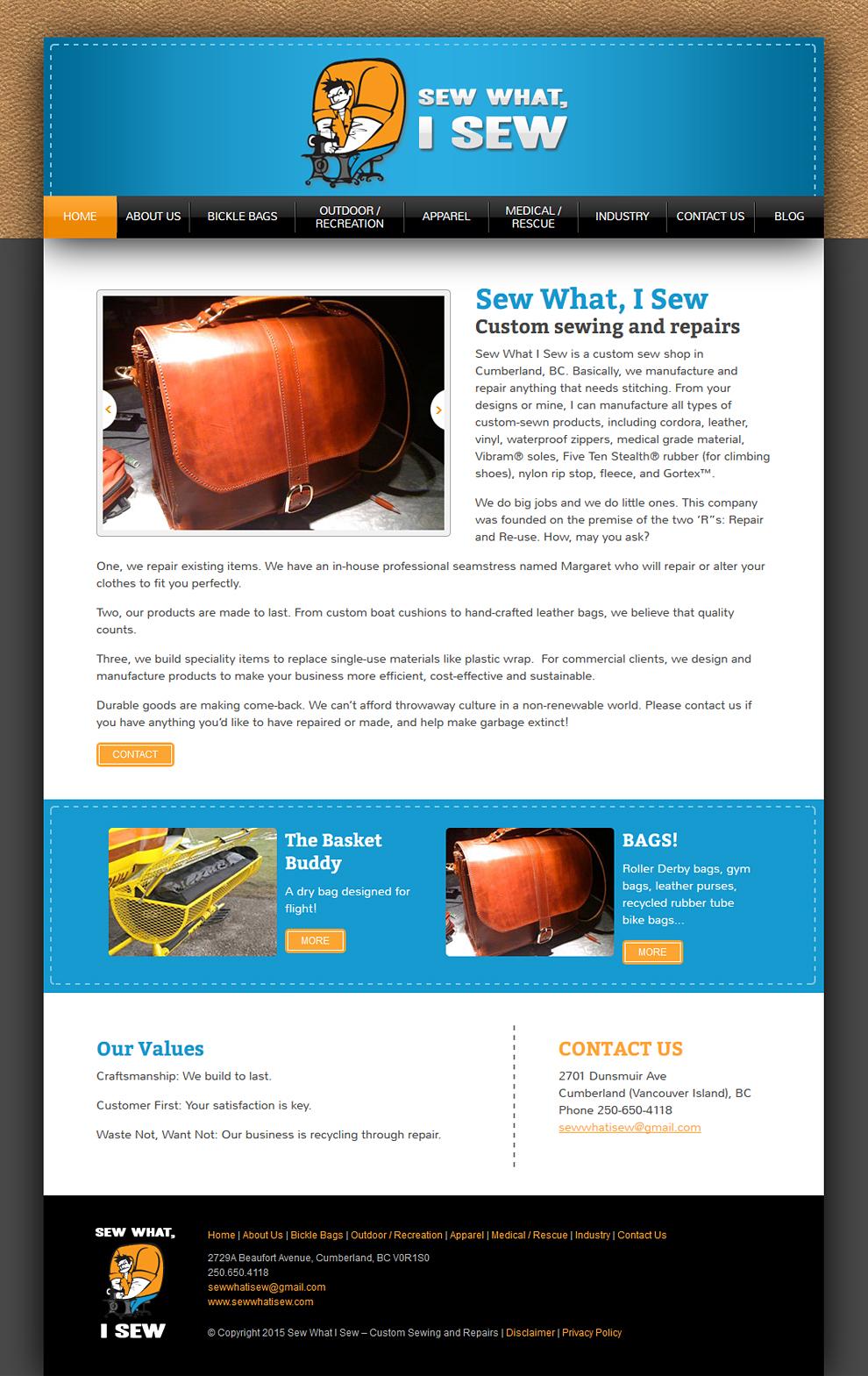 Sew What I Sew Homepage