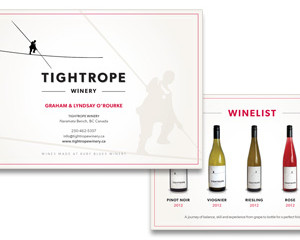 Tightrope Winery Rack Card