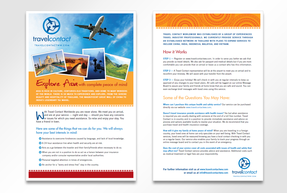 Freshwater-Creative » Travel Contact Brochure