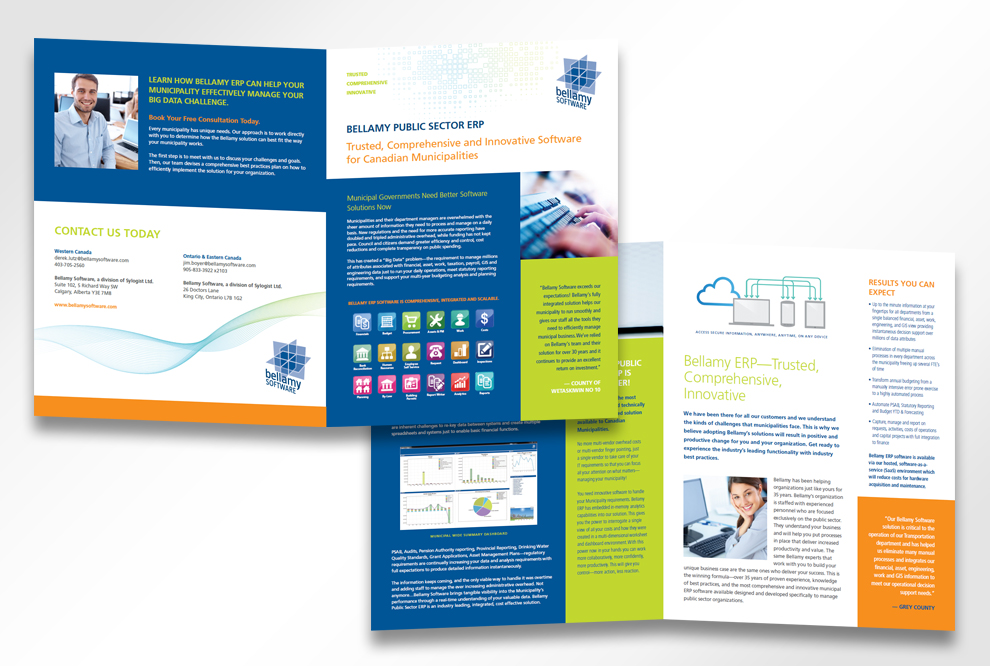 Software Brochure. Tablet Pc Software Screen From Puzzle With