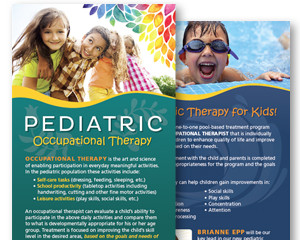 Pediatric Occupational Therapy Rack Card