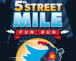 5th Street Mile Poster Design