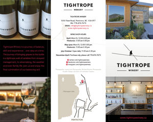 Tightrope Winery Tri-fold Brochure